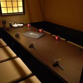 大切なお客様との接待や会食にゆっくりした時間を過ごせる個室