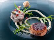 濃厚な手打ち麺の『才巻き海老とアティチョークのタリオリーニ』