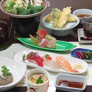 房州の豊かな自然が育んだ旬の食材が贅沢に味わえます。各種宴会にもぴったりな御膳です。