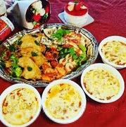 前菜5種、ミラノ風ミートドリア、骨付きチキンのコンフィ、季節のフルーツショートケーキ(ホール) 品数、ボリュームもありフタをあけるだけのお手軽パーティーセット!ご自宅でのお祝いにいかがでしょうか?