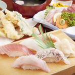 魚介類の鮮度の良さは折り紙付き