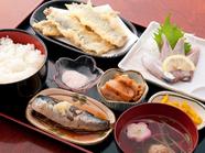 『いわしづくし定食(天ぷら・刺身・煮魚・つみれ汁)』