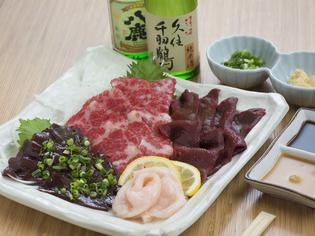 馬肉は熊本県産の新鮮な生肉にこだわって仕入れ