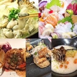 お刺身と山の幸8点盛りをはじめ、旬の食材を盛り込んだ、季節を感じられるコースです。