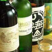 厳選したお酒…日本酒、本格焼酎、ワインetc…
