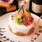 誕生日や記念日に。サプライズでデザートプレートをサービス