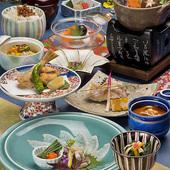 日本の四季を楽しむ旬の会席料理を堪能できます
