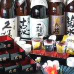 本格焼酎・地酒・プレミアム梅酒が40種以上、1杯400円~
