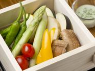 野菜が新鮮だからこその自信作『野菜のせいろ蒸し』
