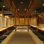 最大60名様まで入る完全個室や10名様・4名様用個室など大小さまざまな個室をご用意しました。 美味しいお料理のご宴会お待ちしております。
