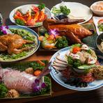 飲み放題付きの『宴会コース』は4000円~5500円までの4種類。プラス5000円で北京ダック1羽が付けられます。