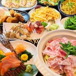 宴会コースプランご注文の方限定で「枝豆」「ポテト」食べ放題を無料でプレゼント♪♪♪