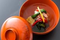 前菜/造り/油物/焼物/肉料理/食事/留椀/香物/水菓子
