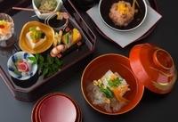 旬菜/吸物/造り/煮物/焼物/止肴/食事/留椀/香物/水菓子