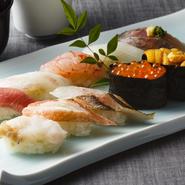 先付/にぎり寿司(10貫)/お椀