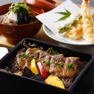 前菜/揚物/そば/お重(和食のお重、お寿司のお重のいずれか一品をお選びください)/デザート