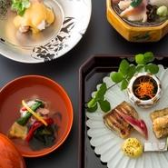 前菜/吸物/造り/煮物/焼物/食事/留椀/香物/水菓子