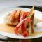 コース料理の1品『真鯛と生雲丹のポワレ』
