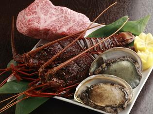 A5ランクのお肉と、広島近海の新鮮魚介類