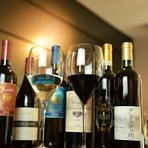 国産ワイン中心に揃えたラインナップ