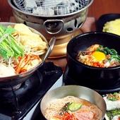 4つの味から選ぶ『まつ家コース』人気の辛みダレ『炎のモツ鍋』