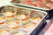 常時18種類以上用意している大人気の『デザートバー』