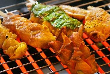 宮崎県産の鶏肉のみでつくられる『串焼き各種』