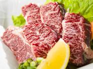 柔らかくジューシーな歯ごたえの『和牛上ヒレ肉(タレ・塩・岩塩)』