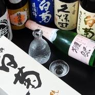 地元成羽町の白菊酒造の地酒をはじめ、厳選して取り揃えています。