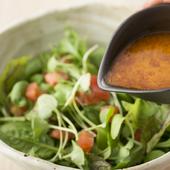 自家製生トマトドレッシングの緑サラダ