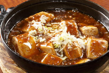 豆板醤と山椒をきかせたピリ辛『四川風麻婆豆腐』