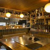 焼酎・日本酒・泡盛と、お酒の銘柄の豊富さに目を見張ります!