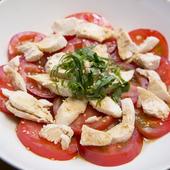 ジューシーな『トマトとササミのさっぱりサラダ』