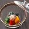 それぞれの野菜にあう出汁で炊いた『季節野菜の炊き合わせ』