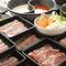 食べ放題だって肉にはこだわります。味に定評のある北見豚を提供