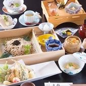 お昼の懐石は2500円から。一流料亭の味を体験できます