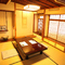 ゆったり落ち着きのある、数寄屋(茶室風)づくりの和室をご用意