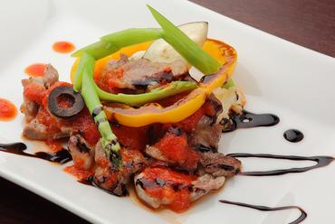 肉料理も得意なシェフのランチのおすすめ『イベリコ豚のソテー』