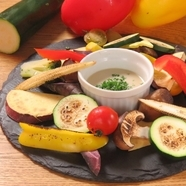 温野菜のバーニャカウダ