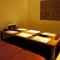 全室が個室! ゆったり座れる掘りごたつ式の座敷は接待に最適