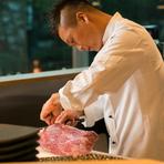 仕入れにより内容は変わりますが入荷時は、とことん堪能して下さい。スタッフがお客様の目の前で肉を焼き、厨房でスライスして提供するメニューなど様々なスタイルがあります。
