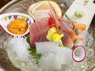 旬の新鮮魚貝『本日のお造り盛り合わせ』