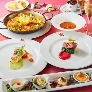ディナー◆メインの魚&お肉料理を贅沢に デザート付き全9品