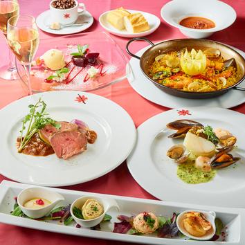 ディナー◆選べる6種のメイン<肉&魚>デザート付き全7品
