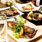 テーブルの上に所狭しと並べられた料理の数々