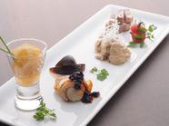 旬の食材5種の『冷菜盛り合わせ』