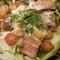 青森産ガーリック豚と自家製ドレッシングで『シーザーサラダ』
