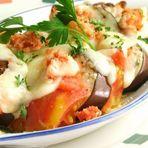 茄子とトマトのたらこチーズ焼き