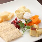 種類豊富な『チーズ』と、手作り生地の『PIZZA』
