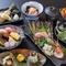 料理8品、贅沢な『寿コース』